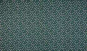 Feeststoffen - K15046-025 Kerst katoen kleine blaadjes groen
