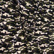 Groene stoffen - Ptx 21/22 340084-61 Tricot camouflage zwart/wit/groen