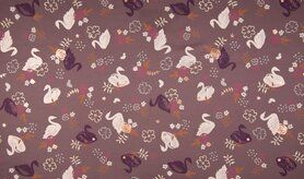 Schlafanzug - K23018-045 Tricot foil zwanen mauve