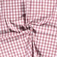 Roze stoffen - NB 5583-014 Katoen boerenbont ruit oudroze 1.5 cm