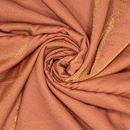 Glanzende stoffen - Ptx 21/22 420069-6 Viscose shiney satin look koraal