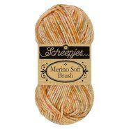 Brei- en haakgarens MERINO SOFT BRUSH - Merino Soft Brush 251 Roest 50GR