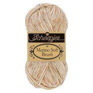 Brei- en haakgarens MERINO SOFT BRUSH - Merino Soft Brush 257 Ecru-Beige 50GR