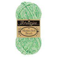 Brei- en haakgarens MERINO SOFT BRUSH - Merino Soft Brush 255 Mintgroen