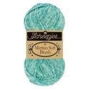 Brei- en haakgarens MERINO SOFT BRUSH - Merino Soft Brush 254 Turquoise