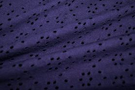 KnipIdee stoffen - KN 21/22 17620-800 Tricot geborduurd kant paars