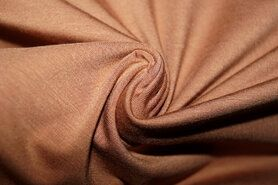 Bruine stoffen - Ptx 779501-329 Tricot pure bamboo camel