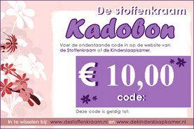 Cadeaubonnen Stoffenkraam - Kadobon 10 euro