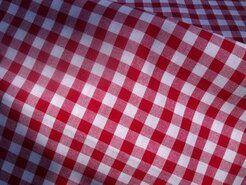 Boerenbont stoffen - NB 5635-015 Katoen Boerenbont ruit rood 1 cm