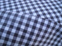 Boerenbont stoffen - NB 5635-063 Boerenbont ruit donkergrijs-taupe 1 cm