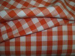Alle seizoenen stoffen - NB 5583-036 Boerenbont ruit oranje 1.5 cm.