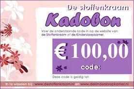 Cadeaubonnen Stoffenkraam - Kadobon 100 euro