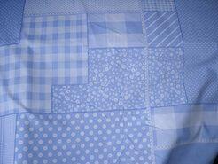 Boerenbont stoffen - NB 5634-002 Katoen patchwork lichtblauw