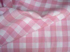 Boerenbont stoffen - NB 5583-011 katoen Boerenbont ruit roze 1.5 cm.