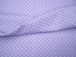 Paarse stoffen - NB 5575-043 Katoen Stipjes lila/wit