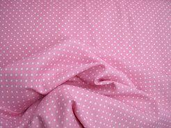 Boerenbont stoffen - NB 5575-011 Katoen stipjes roze/wit