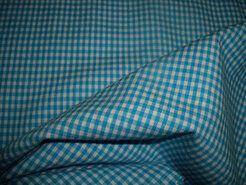 Boerenbont stoffen - NB 5581-004 Boerenbont mini ruitje turquoise 0.2