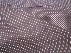 Baumwollstoffe - NB 5575-55 Punkte Baumwolle dunkelbraun