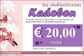 Cadeaubonnen Stoffenkraam - Kadobon 20 euro