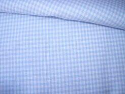 Boerenbont stoffen - NB 5581-002 Boerenbont mini ruitje lichtblauw 0.2 op=op