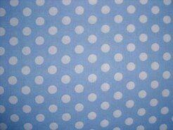 Stoffen Babykamer - NB 5576-002 Balletjes katoen lichtblauw