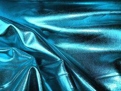 Kunstleer en suedine - NB 9746-023 Dikke lamee stretch aqua op=op