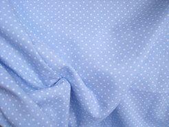 Boerenbont stoffen - NB 5575-002 Stipjes katoen lichtblauw