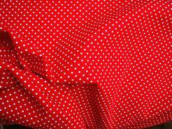 Boerenbont stoffen - NB 5575-015 katoen Stipjes rood/wit