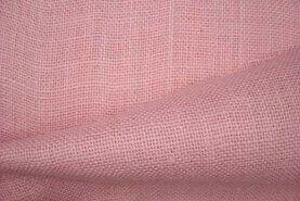 Roze stoffen - Jute zalmroze (103)