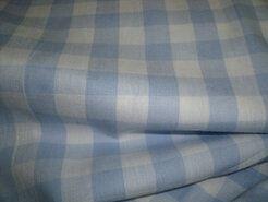 Boerenbont stoffen - NB 5583-002 Boerenbont ruit lichtblauw 1.5 cm.