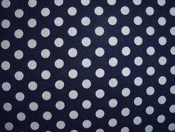 Boerenbont stoffen - NB 5576-008 Balletjes katoen donkerblauw