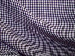 Baumwollstoffe - NB 5581-45 Boerenbont mini Karo dunkelviolet 0.2