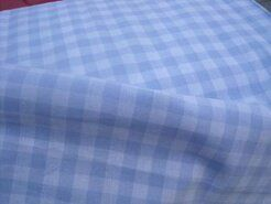 Boerenbont stoffen - NB 5635-002 Boerenbont ruit lichtblauw 1 cm