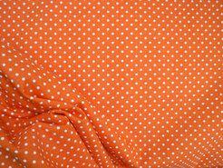 Boerenbont stoffen - NB 5575-036 Stipjes katoen oranje