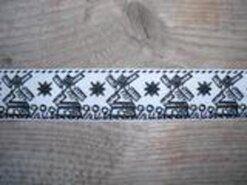 Fantasie band - Sierband molen (2.5 cm.) zwart (A)*