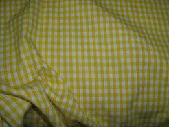 Alle seizoenen stoffen - NB 5582-035 Boerenbont ruit geel 0.4 cm