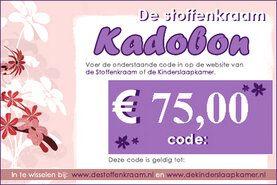 Cadeaubonnen Stoffenkraam - Kadobon 75 euro