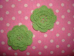 Bloemen - Gehaakte bloem 4.5 cm appelgroen op=op