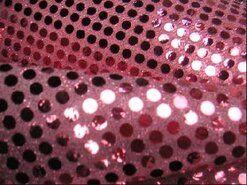Roze stoffen - KN 0142-880 Paillette stof licht roze