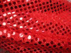 Feeststof - KN 0142-425 Paillette stof rood