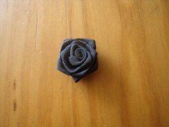 Bloemen - Roosje satijn donkerblauw 3 cm