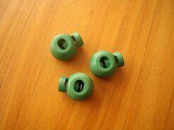 Kordelstopper - Kordelstopper rund grasgrün