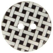 Ronde knopen - Knoop geruit zwart 5601-28*