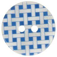 Knopen* - Knoop geruit blauw 5601-32*