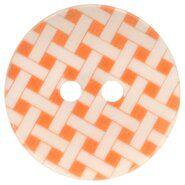 Kunststof knopen - Knoop geruit oranje 5601-32*