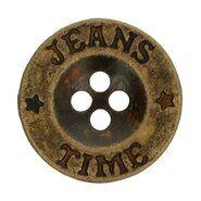 Metalen knopen - Knoop grijs Jeans-Time 1,8 cm (5542/28)*