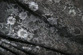 Kant stoffen - BU 4800-017 Kant donker legergroen/grijs