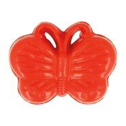 Kinderknopen - Kinderknoop vlinder rood (5604/1)*