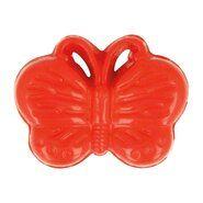 Knöpfe - Kinderknopf Schmetterling rot (5604/1)