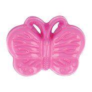 Kunststof knopen - Kinderknoop vlinder roze (5604/1)*